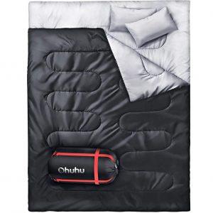 Ohuhu Doppelschlafsack, Schlafsack 220 x 150cm