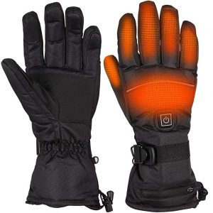 Beheizbare Handschuh 3.7V/4000mAh 3-Stufen Temperaturregelung und Touchscreen Winterhandschuhe